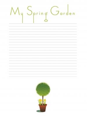 My Spring Garden Notes by Simon Howden at freedigitalphotos.net
