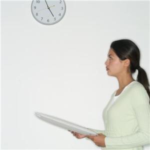 Woman Watching Clock