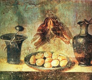 Food fresco from Pompei - Wikimedia Commons