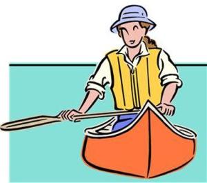 woman in canoe