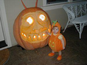 Two of Chris's pumpkins