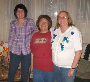 Gayle with Stacy and Cindy