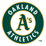 """Oakland athl primlogo"" by Oakland Athletics - http://mlb.mlb.com/mlb/downloads/international/postseason_07.pdf. Licensed under Public domain via Wikimedia Commons - http://commons.wikimedia.org/wiki/File:Oakland_athl_primlogo.svg#mediaviewer/File:Oakland_athl_primlogo.svg"
