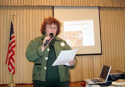 Gayle speaking