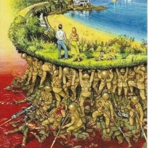 We live today in a world of green because of the sacrifices of yesterday's soldiers. They hold up the future.