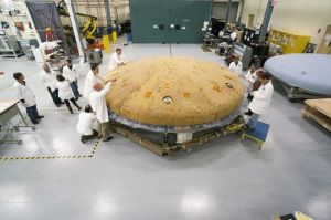 The heat shield for the first Orion will have to handle a re-entry speed of 20,000 mph. For moon flights, 24,000 mph.