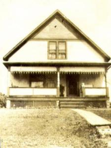 "This is the Fourth Street house Raymond built for Ethel. They moved in after their honeymoon. Later, when they moved into the apartment above the bakery, my grandparents, Earl ""Frog"" Franks and Mid Kurtz (Ethel's younger sister) bought the house."