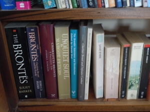 I wrote my dissertation on Charlotte Bronte. I tossed out my notes, but I can't let go of all my Bronte books.