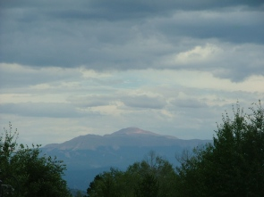Pikes Peak as seen from the West