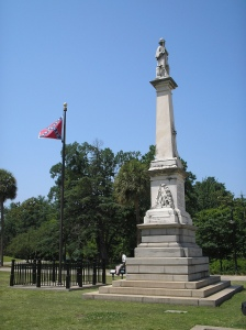 This is the Confederate war dead monument and the battle flag in front of the South Carolina Statehouse that's the center of controversy.