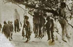 The post Civil War Jim Crow Era in the South... a time of lynchings, of terror campaigns conducted by men in white robes.