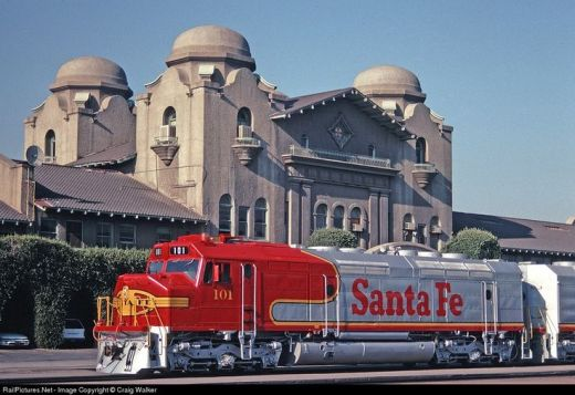 This is the San Bernardino train depot, the one we used for our train journeys to Ohio. For a boy under 10, it was the start of grand adventures.