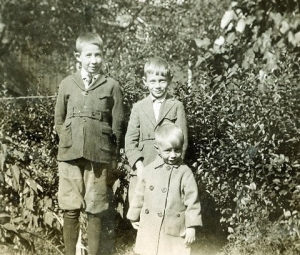 Pictured is Kenny Kurtz with his sister Ethel's children, Russell and Harold. Russell was Kenny's best man at his wedding.