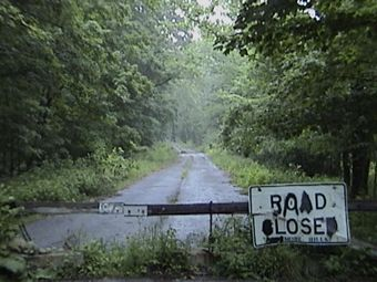 This road led to the cemetery and the grave of the woman who plagued by dreams.