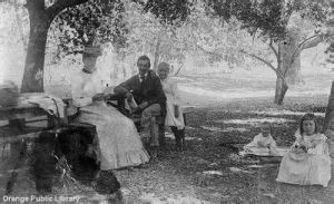 Fourth of July picnic in a park in Irvvine, Calif.-use