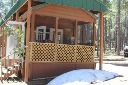 Cabin Front_snow_June 2016