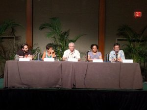 Perfroming Sleuths panel