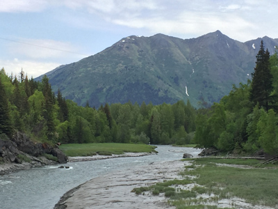 Alaska mountains and river