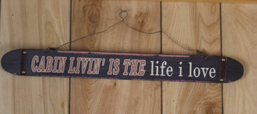 Cabin Living sign