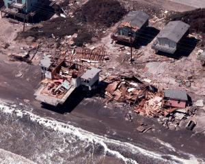 Hurricane Fran at Topsail Island